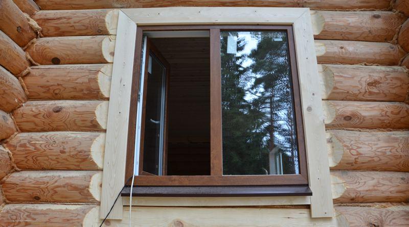 Наличники на окна в деревянном доме №4