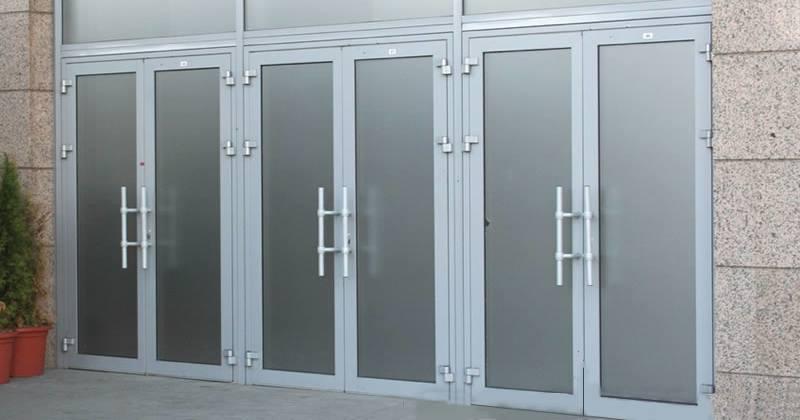 Алюминиевые двери (алюминиевые входные группы) №2
