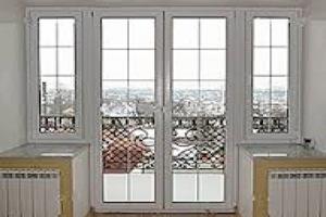 Пластиковые двери на балкон №6