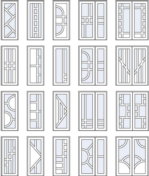 варианты пластиковых дверей Пущино, Таруса, Климовск, Протвино, Серпухов, Кременки,