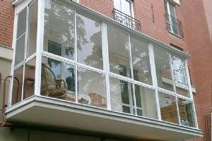 Французское остекление балкона №8