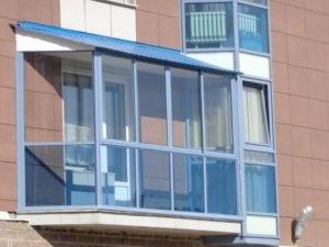 Остекление балкона тёплым алюминием
