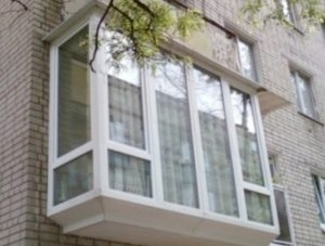 Французское остекление балкона №6