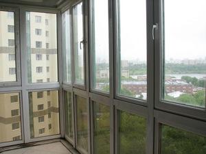 Французское остекление балкона №5