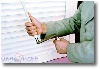 рольставни на окна - карданный привод