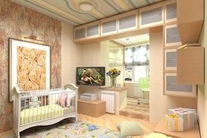 Объединение балкона с детской комнатой