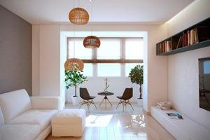 Объединение балкона с жилой комнатой