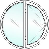 Круглые пластиковые окна №3