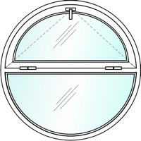 Круглые пластиковые окна №4
