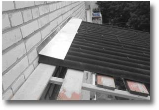 крыша балкона из ондулина в Серпухове, Чехове, Протвино, Пущино, Тарусе,
