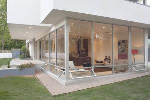 тёплые алюминиевые окна в частный дом