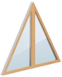 глухое треугольное окно
