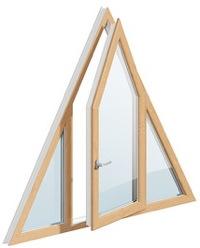 треугольное открывающееся окно