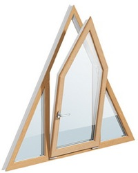 треугольное откидывающееся окно