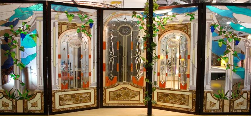 художественные витражи в пластиковые окна и двери
