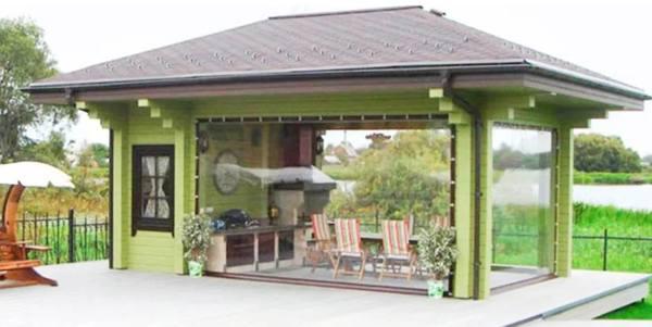 пластиковые шторы для террасы