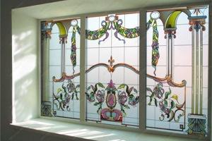 элитные окна с витражами