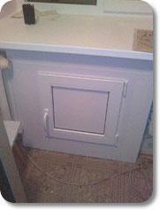 Шкаф - холодильник под подоконником