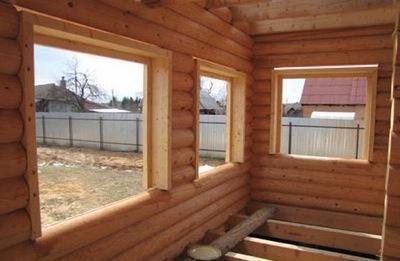 изготовление обсады и подготовка проёмов в деревянном доме в Заокском районе