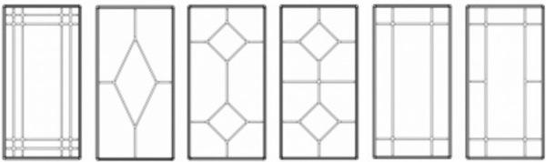 Возможные рисунки декоративной раскладки