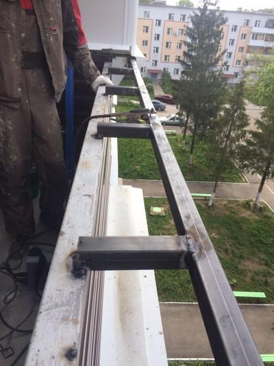 Остекление балкона с выносом №3