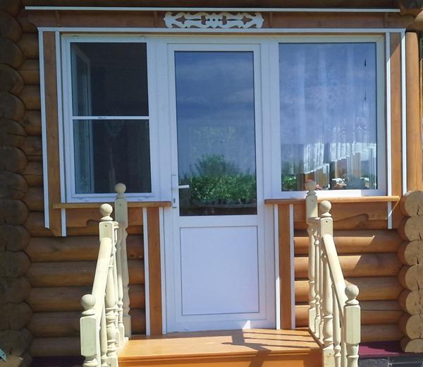 Наличники на окна в деревянном доме №6