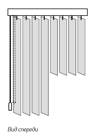 Пластиковые вертикальные жалюзи №4
