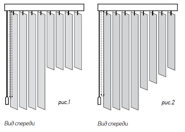 Тканевые вертикальные жалюзи №6