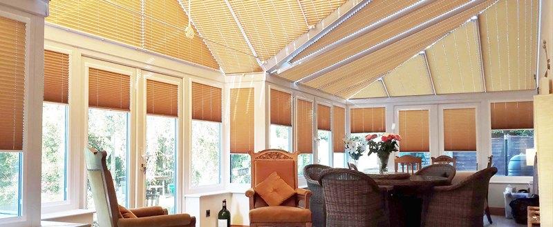 Неподвижные формы шторы плиссе на вертикальные окна (до 15°)