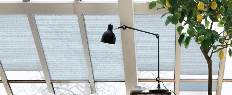 Шторы плиссе на наклонные окна