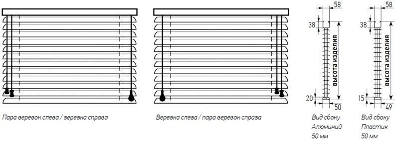 Горизонтальные алюминиевые жалюзи №9