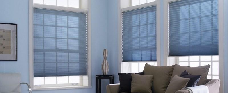 Шторы плиссе со шнуром управления на вертикальные окна (до 15°)