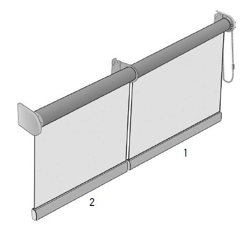 Рулонные шторы для закрытия проёмов №9
