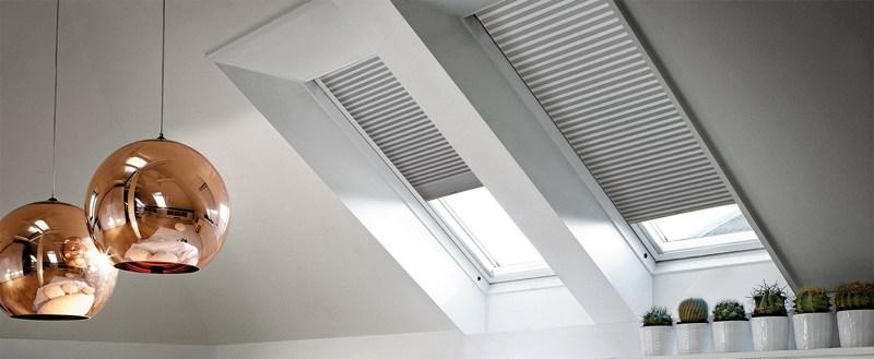 Шторы плиссе на потолочные окна