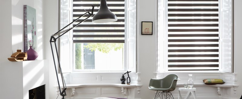 Рулонные шторы MINI-ЗЕБРА (BESTA) для пластиковых окон с любой глубиной штапика