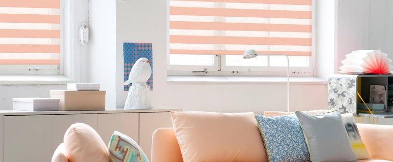 Рулонные шторы UNI1-ЗЕБРА (BESTA) для пластиковых окон с глубиной штапика не менее 14мм