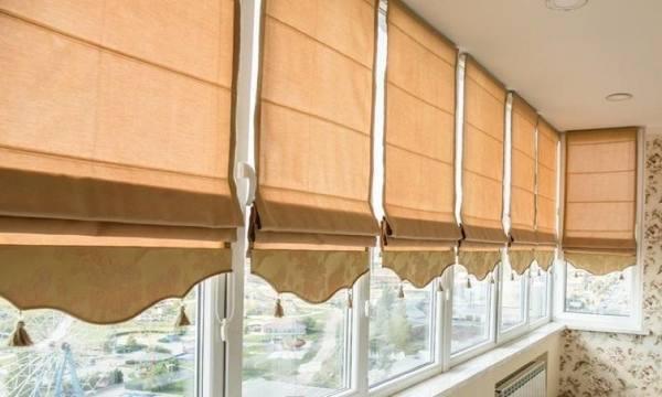 Римские шторы с фигурным нижним краем