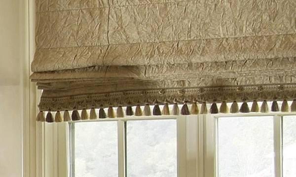Римская штора с бахромой