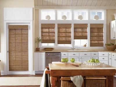 бамбуковые шторы на кухню