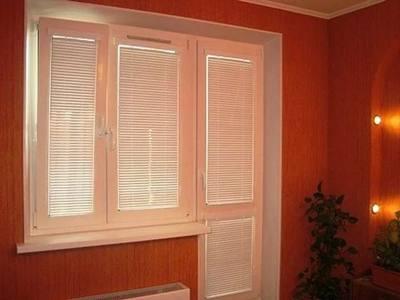 рулонные шторы на окно с балконной дверью