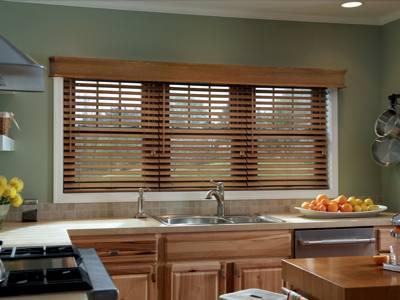 деревянные шторы на кухню