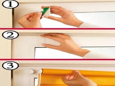 Жалюзи на пластиковые окна без сверления №2