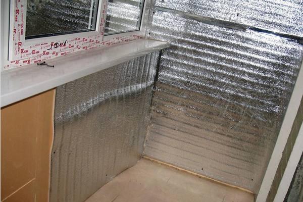 внутреннее утепление лоджии/балкона