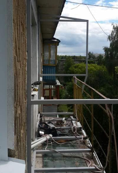 силовой каркас балкона