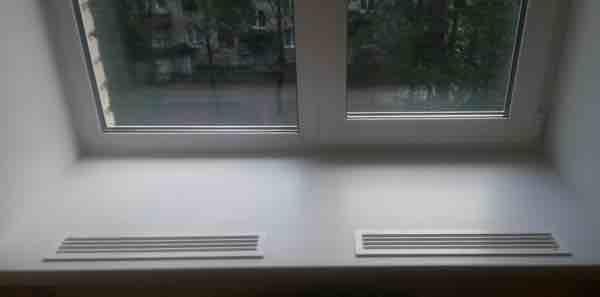 Вентиляционная решетка на подоконник